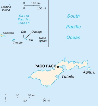 Map of American Samoa