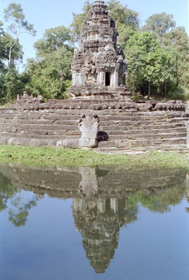 The central shrine in the Neak Pean temple, Angkor, Cambodia